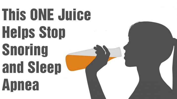 How to Stop Snoring and Sleep Apnea with One Simple Juice
