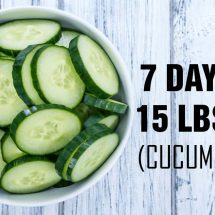 Drop 15lbs in One Week with the Cucumber Diet