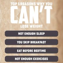 Top 6 Reasons Why You Can't Lose Weight