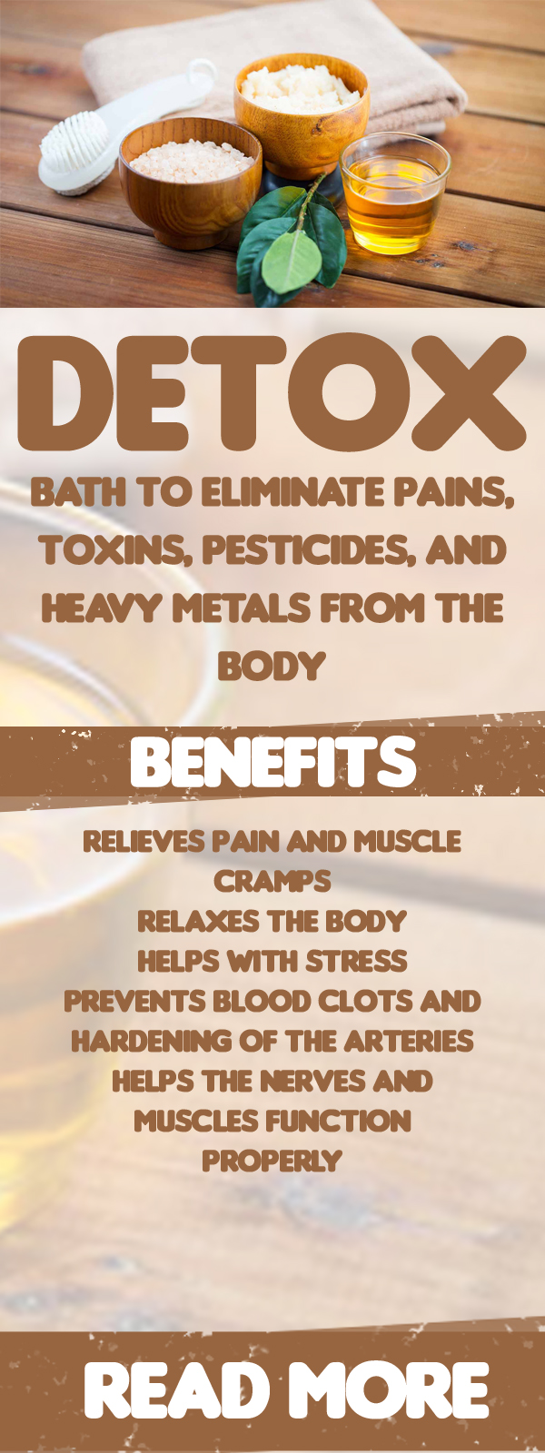 Detox Bath To Eliminate Pains, Toxins, Pesticides, And Heavy