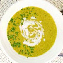 Gut-Healing Garlic Asparagus Broccoli Soup Recipe